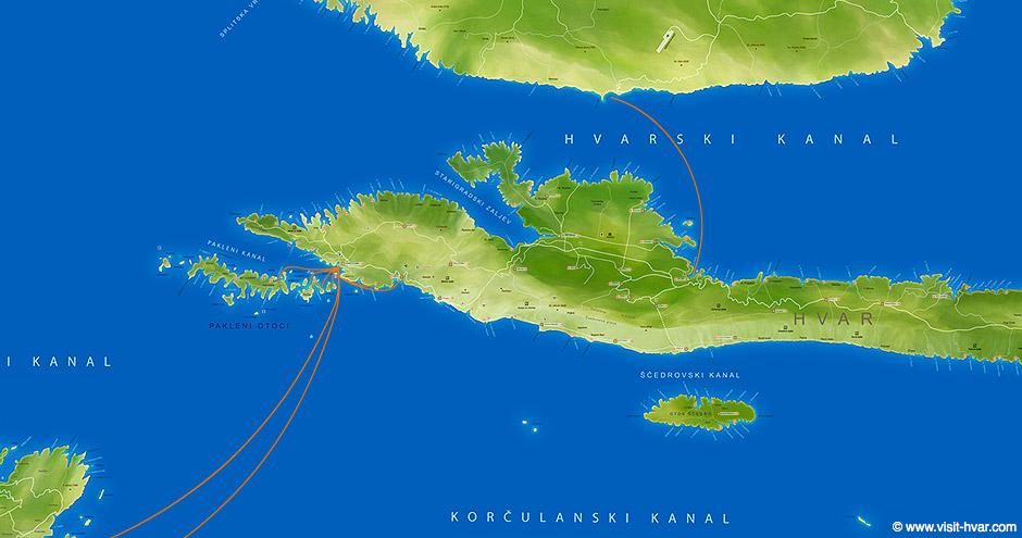 Island Hvar map